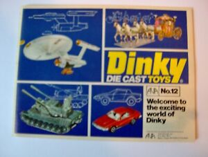 Dinky Catalog No.12 From UK printing 1976