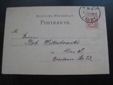 BERLIN STADTVERKEHR LOCALS 1889 scarce postcard!