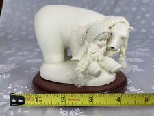 "Dept 56 Snowbabies, ""Snuggle Up"" 69417 Polar Bear Friendship 2004 Snowman"