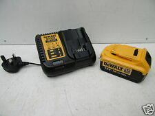 DEWALT DCB182 18V 4 AH XR LI-ION BATTERY + DCB115 FAST MULTI CHARGER