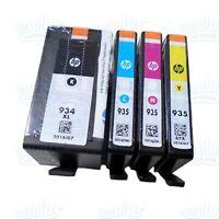 4pk Genuine HP 934XL High Yield Black & 935 Color OfficeJet 6230 6820 6835 6830