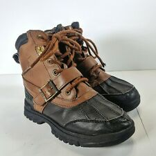 POLO Ralph Lauren Country Duck Boots 97040 Chocolate Brown Toddler Boys Size 13½
