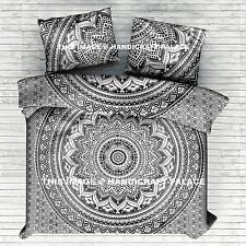 Ombre Mandala Grey Duvet Cover + Pillow Case Quilt Cover Bedding Set King Size