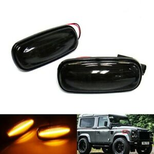 2x Side Indicator LED Light Turn Signal For Land Rover Defender 90 110 Discovery