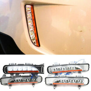 For Ford Edge 2011 2013 2014 Daytime Running Light DRL White LED Fog Lamp Cover