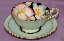 Paragon Double Warrant Cabbage Rose Gilt Bone China Tea Cup & Teacup And Saucer