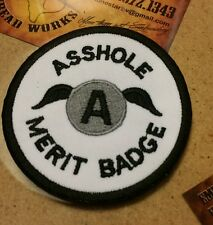 A Hole Merit Badge motorcycle vest jacket patch