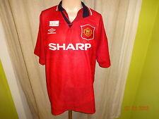 "Manchester United Original Umbro Meister Trikot 1994-1996 ""SHARP"" Gr.XL TOP"