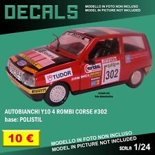 DECALS repro Autobianchi Y10 Rally 4 Rombi corse Polistil 1/25 1/24 1 24 decal