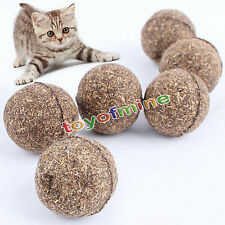 Natural Catnip Mint Ball Pet Toy Cat Teaser Playing Chew Cat Treats Toy Portable