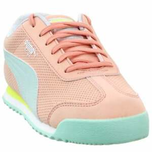 Puma Roma Perforated Nubuck  -  Kids Girls  Sneakers Shoes Casual   - Pink -