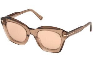 Brown Gradient Sunglasses TF371-F 38B Asian fit Tom Ford Anoushka Dove Gray