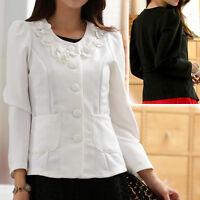 New Ladies womens blouse cardigan dress coat jacket UK size 10 12 14 16 18 #2479