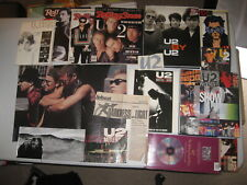 Lot of 9 U2 Books, Magazines + News Clippings, Posters, Etc. Rolling Stones SHOW