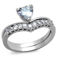 Heart Stainless Steel Band Costume Rings