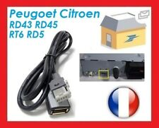 Cable USB PEUGEOT CITROEN AUTORADIO RT6 RD5 RD45 RD43 AUX USB PSA MP3 USB