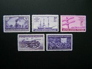US STAMPS 1944 YEAR COMPLETE SET, SCOTT # 922-926. OG, MNH