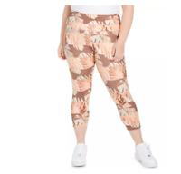 Nike Running Tights Womens Plus 2X Dri Fit Fast Run Crop High Rise Pink Floral
