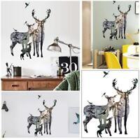 Deer in Forest Art Wall Decals Removable Vinyl Sticker DIY Home Bedroom Decors S