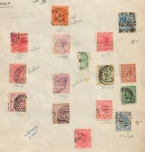 1870 VICTORIA AUSTRALIA Lot of 16 Used Stamps