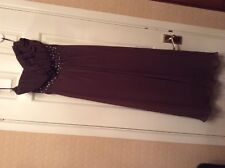BNWT PIA MICHI COUTURE=Brown-UK12(40))-PROM/COCKTAIL DRESS