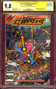CGC SS 9.8 SIGNED Marv Wolfman & Jerry Ordway Crisis on Infinite Earths #12
