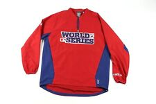 Majestic Mens Large 2012 World Series Baseball Cool Base Pullover Jacket Red