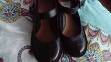 size 4.5 clarks black shoes with strap school/office