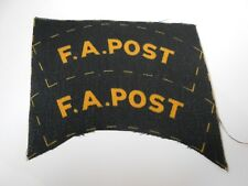 first aid post    uncut   printed  f a post  cloth shoulder titles