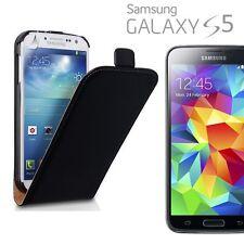 Fliptasche Deluxe negra para Samsung Galaxy s5 mini g800 g800f, funda protectora de bolsa nuevo