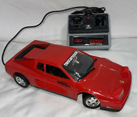 1988 Red Ferrari Testarossa Wired R/C Car By New Bright No. 209 - Hong Kong