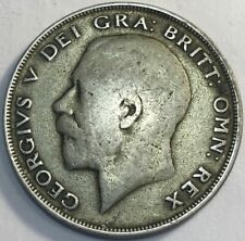 GREAT BRITAIN - George V - Silver 1/2 Crown - 1921 - KM-818.1a - Very Fine
