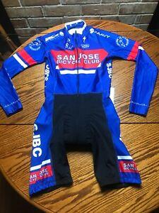 Cycling jersey singlet Padded suit speedsuit Medium racing San Jose club Ca.
