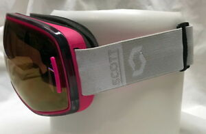 Sale - NEW Scott LCG Goggles Pink Frames Grey Chrome WITH BONUS LENS !!
