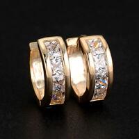 // pendientes Mujeres joyas preciosas color oro cristal 925
