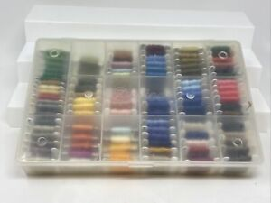 Lot 97 DMC Threads Numbered Bobbin Cards Skein Cross Stitch Embroidery