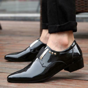Mens Pumps Low Top Oxfords Dress Slip On Business Suits Pointy Toe Formal Shoes