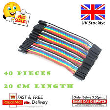 40pcs Dupont Cables Mujer A Mujer Jumper GPIO Cable Cinta Protoboard Arduino