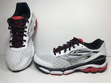 Mizuno Wave Inspire 12 MEN'S Size 7 White Red Black running shoe X10 U4ic