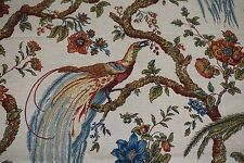 Waverly Fabric OLANA Jewel Large Scale Bird Floral 100% Cotton SOLD by the YARD