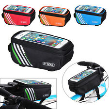 New Bicycle Bike Cycling Frame Pannier Front Top Tube Touchable Phone Bag Pouch