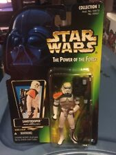 New Sandtrooper Star Wars Potf2 Power Of Force 1996 No Holo Moc Army .01 Variant