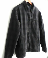 Hurley Jacket/ Black and Grey/ Distressed look/Quilted lining Size M