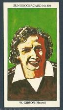 THE SUN 1979 SOCCERCARDS #810-HEART OF MIDLOTHIAN-WILLIE GIBSON