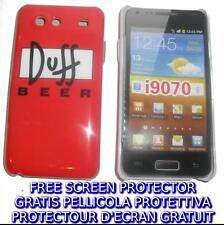 Pellicola+custodia BACK COVER BIRRA DU rigida per Samsung I9070 Galaxy s Advance