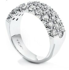 Diamond Ring - 1.65 Carat - Size 6.5 Hearts On Fire Truly Triple Row Right Hand