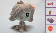 Littlest Pet Shop Dog Sheepdog Komondor Shaggy 1458 and Free Accessory Authentic