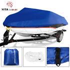 Yitamotor 14-16ft Heavy Duty Boat Cover Fits V-hull Fishing Ski Bass Shelter