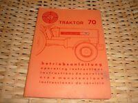 Steyr Traktor Typ 70 Diesel-Traktor 4 Zylinder  Jahr 1968 Betriebsanleitung