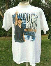 Luke Bryan Farm Tour October 2014 Concert White T Shirt Size Men's Xl Country